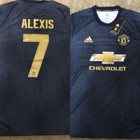 buy online a5f07 e823b Manchester United Third 18/19 Jersey ALEXIS #7 NWT